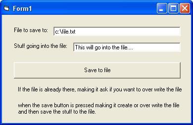 creating and saving txt file