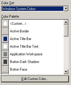 VB6 Color Palette Control / List Box