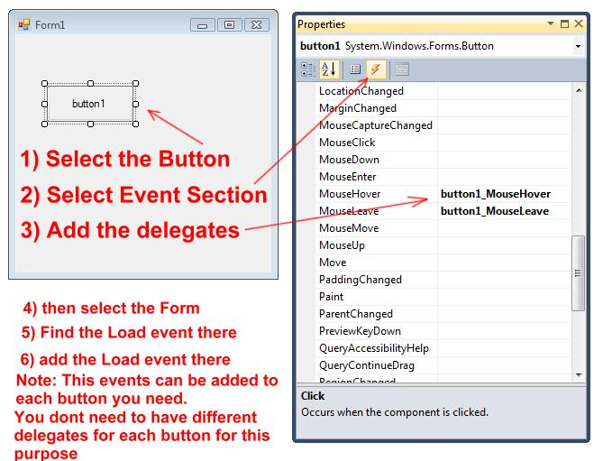 How to change highlight color on button click in C#