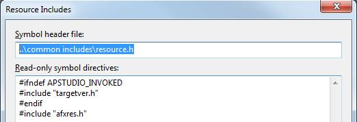 How to decouple resource h fro   rc file