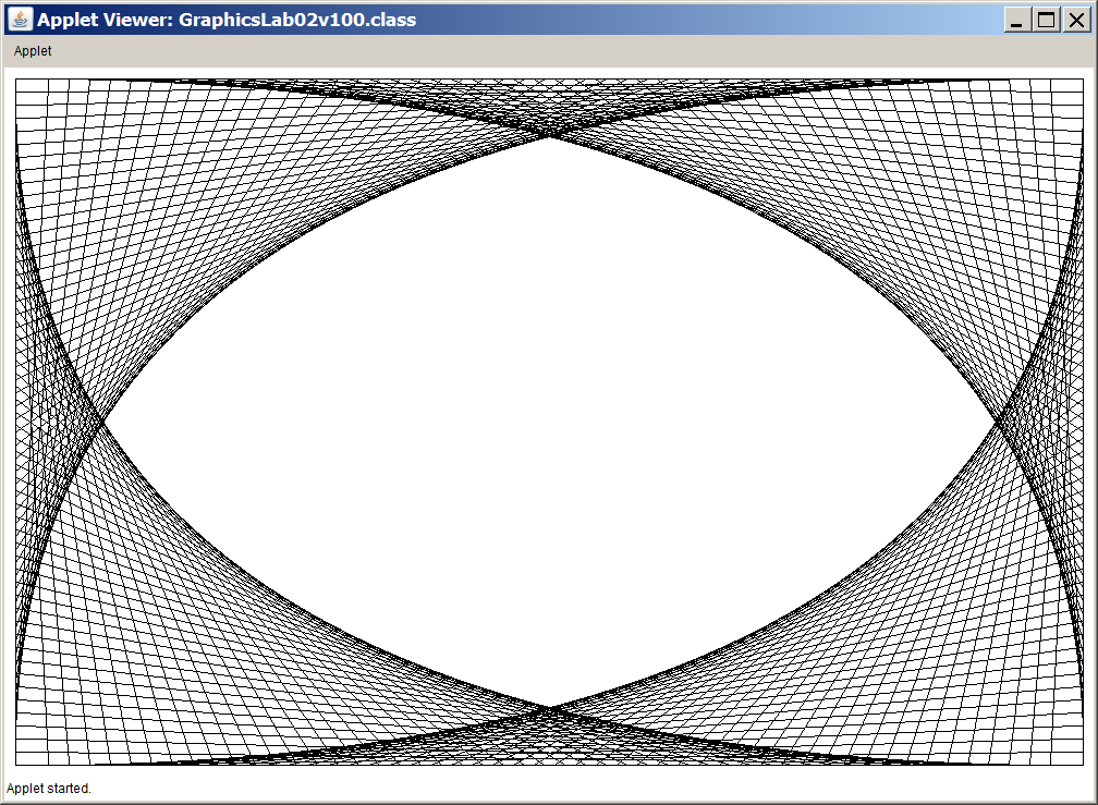 Drawing Lines Java Applet : Need help with java applet
