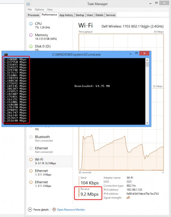 Trying to throttle binary file download via WinHTTP gives unexpected